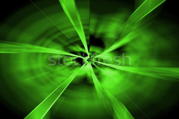 abstract green twirl background Stock photo © jonnysek