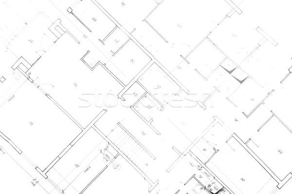 Plan maison blanche bâtiment fond Photo stock © jonnysek