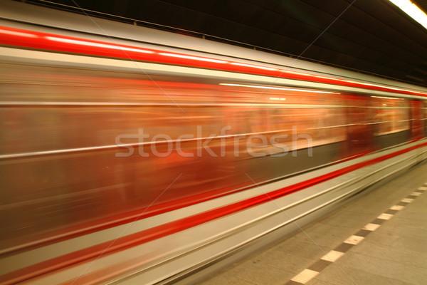 Prague métro Nice transport technologie vert Photo stock © jonnysek