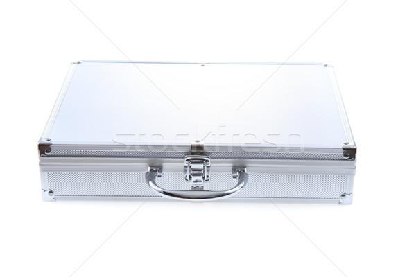 Nuovo alluminio valigia isolato bianco sfondo Foto d'archivio © jonnysek