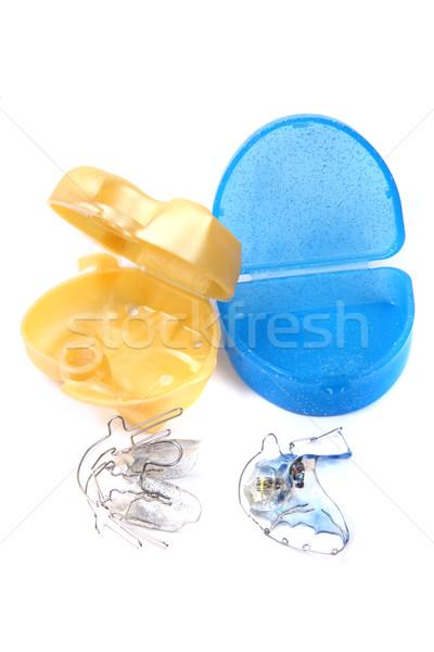 Fogszabályozó izolált fehér orvosi szépség gyógyszer Stock fotó © jonnysek