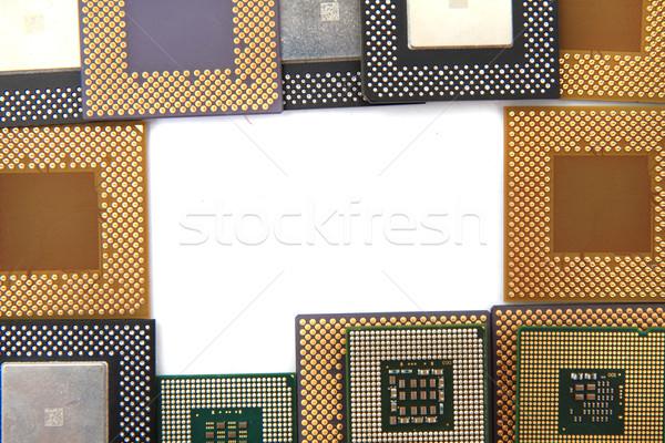 Frame oude geïsoleerd witte technologie achtergrond Stockfoto © jonnysek