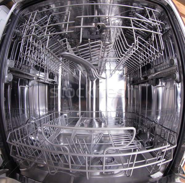 Lava-louças máquina dentro vazio trabalhar metal Foto stock © jonnysek