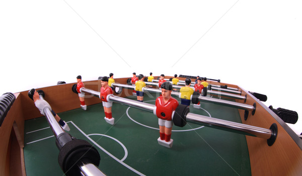 Table football joueurs isolé blanche herbe Photo stock © jonnysek