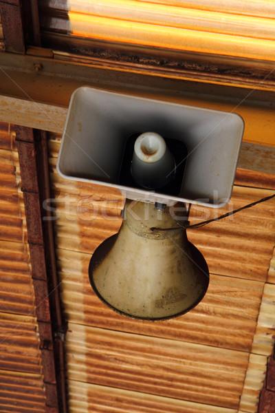 old speaker from rail station Stock photo © jonnysek