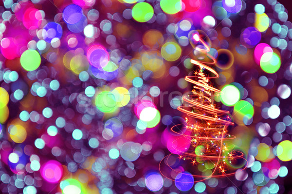 color christmas lights as nice background Stock photo © jonnysek
