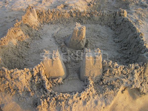 sand castle on the beach Stock photo © jonnysek
