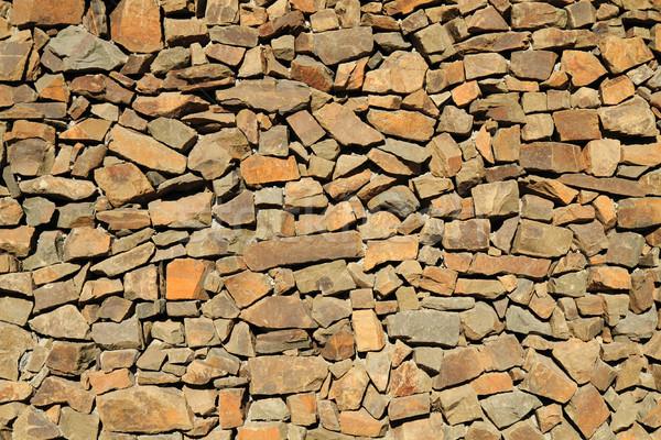 Muro di pietra texture nice naturale abstract natura Foto d'archivio © jonnysek