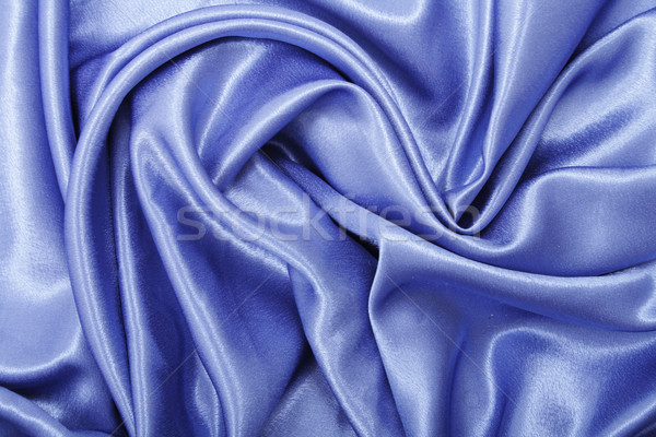 Stock photo: blue satin background