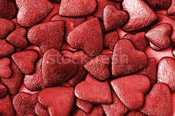 red hearts valentine background Stock photo © jonnysek