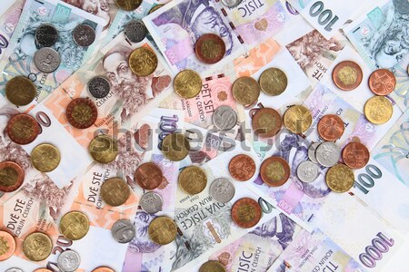 czech koruna money texture Stock photo © jonnysek