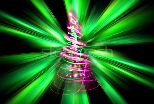 árvore luzes cor floresta projeto Foto stock © jonnysek