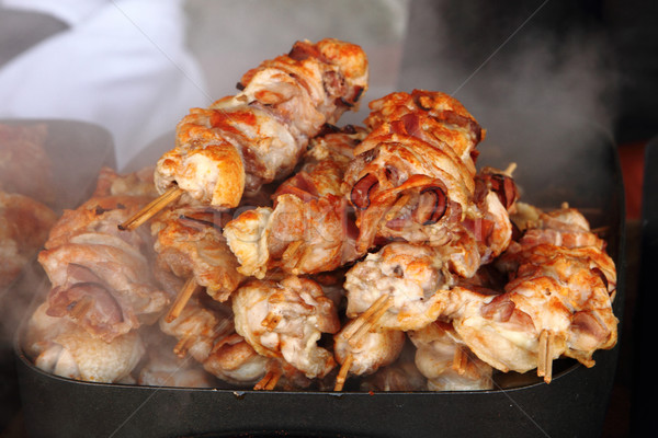 Gegrilde kip vlees mooie voedsel koe restaurant Stockfoto © jonnysek