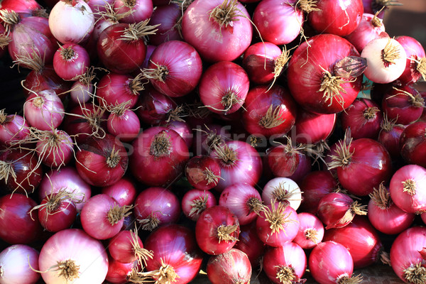 fresh red onions  Stock photo © jonnysek
