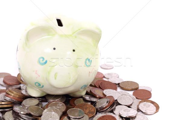 Munt bank tsjechisch geld geïsoleerd witte Stockfoto © jonnysek