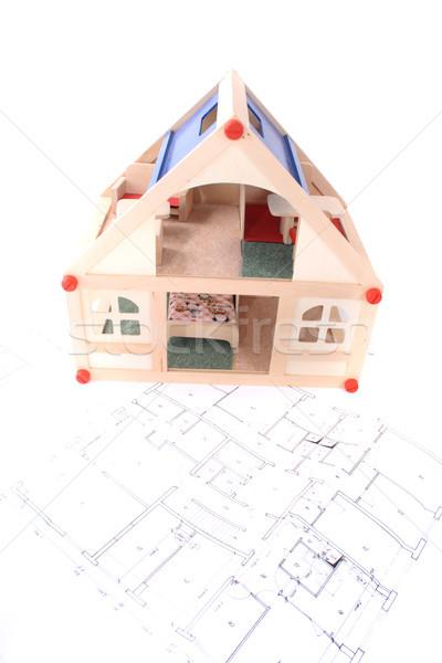 plan and model of my house Stock photo © jonnysek