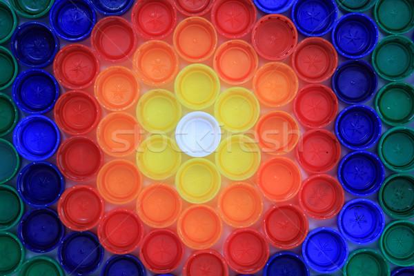 collecting of color pet caps  Stock photo © jonnysek