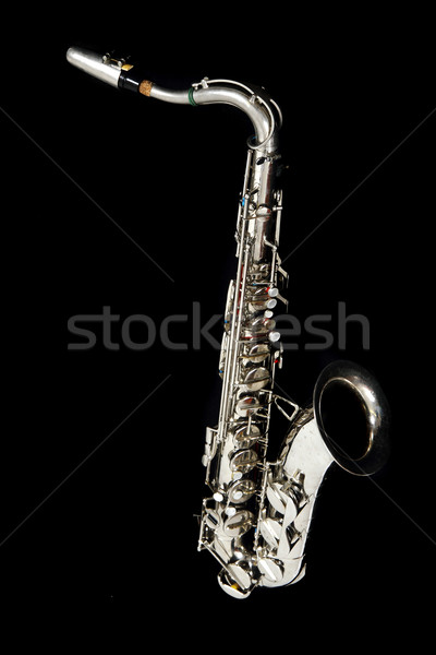 silver saxophone  Stock photo © jonnysek