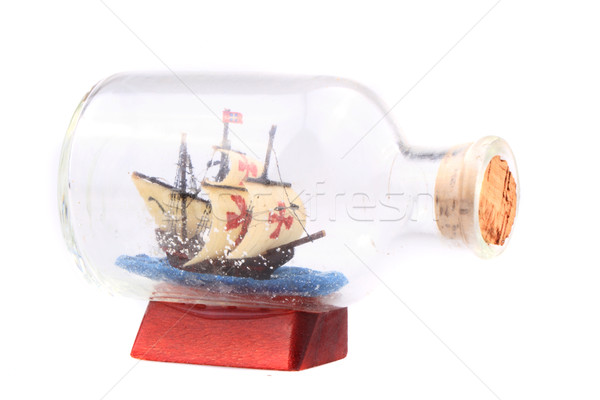ship in the glass isolated Stock photo © jonnysek