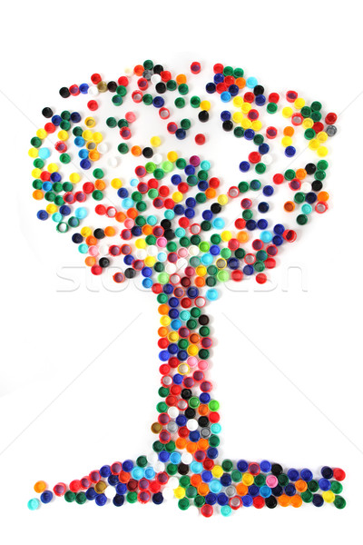 tree from the color caps  Stock photo © jonnysek