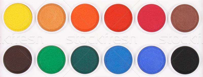 Paint box with watercolors  Stock photo © jonnysek