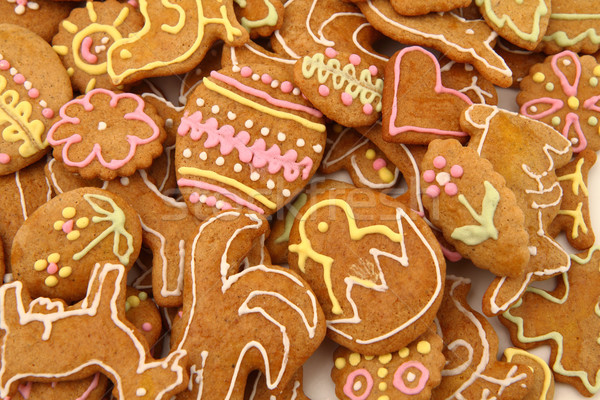 easter gingerbread cookies - czech tradition  Stock photo © jonnysek