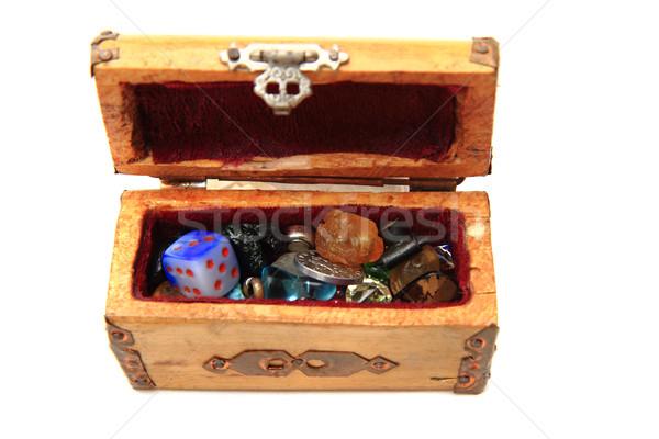 wooden box with small toys Stock photo © jonnysek