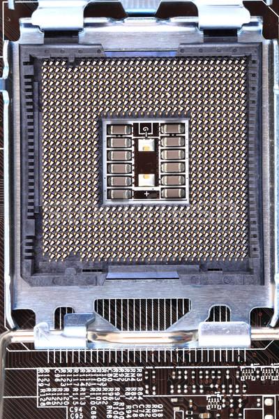 Pormenor moderno computador placa-mãe pequeno tecnologia Foto stock © jonnysek