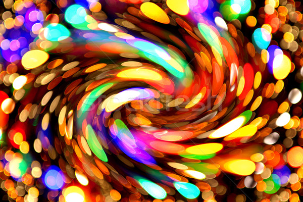 クリスマスツリー ライト いい 休日 赤 色 ストックフォト © jonnysek