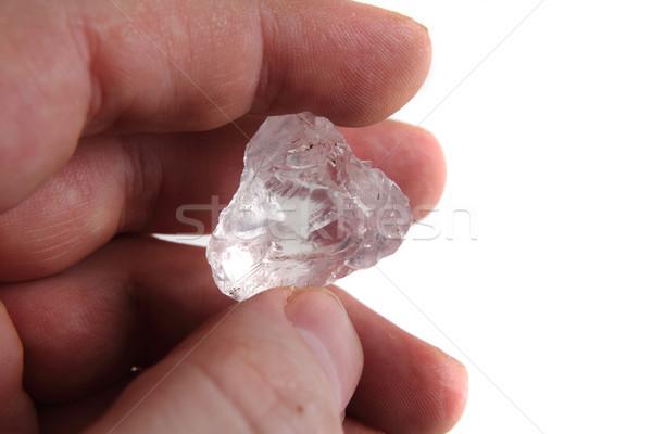 natural diamond in the human hand Stock photo © jonnysek