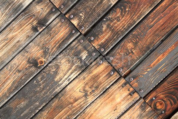 öreg fából készült textúra fal terv háttér Stock fotó © jonnysek