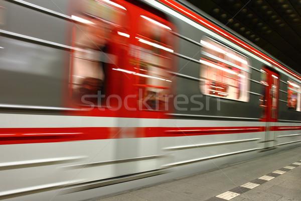 Metropolitana Praga nice transporti tecnologia verde Foto d'archivio © jonnysek