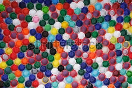 color plastic caps background Stock photo © jonnysek