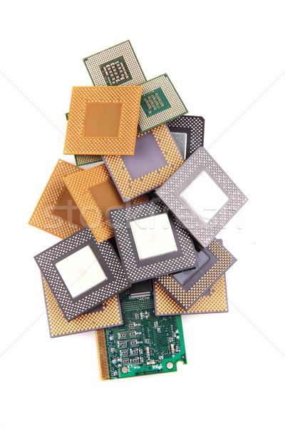 computer chip as christmas tree decoration Stock photo © jonnysek