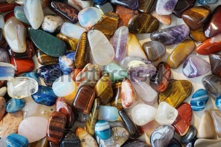 Couleur minéraux Nice naturelles texture bleu Photo stock © jonnysek