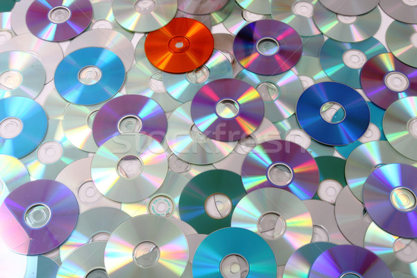 CD and DVD as background Stock photo © jonnysek