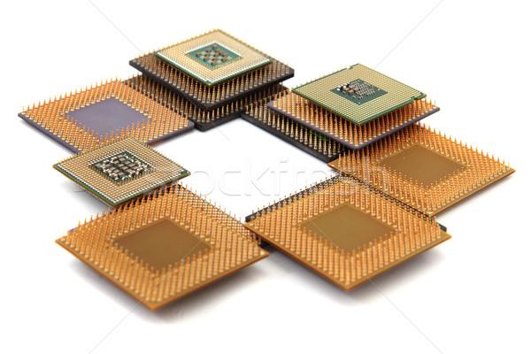 Oude geïsoleerd witte technologie achtergrond boord Stockfoto © jonnysek