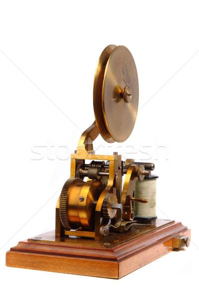 Vieux isolé blanche technologie téléphone clé Photo stock © jonnysek