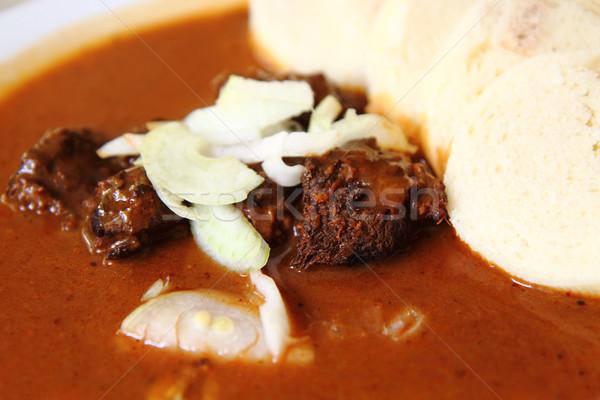 czech goulash Stock photo © jonnysek