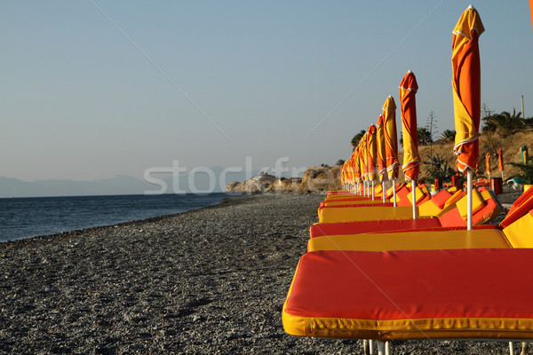Grecia vuota estate spiaggia amore sole Foto d'archivio © jonnysek