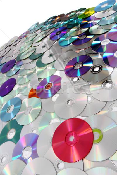 Stock fotó: Cd · technológia · szép · számítógép · zene · kommunikáció
