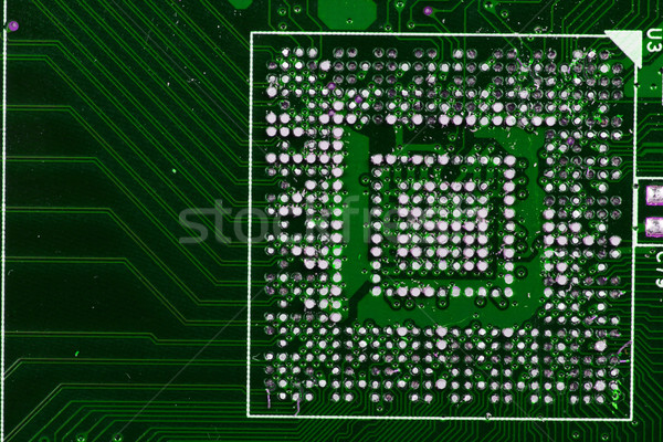 Microprocessor detail mooie technologisch abstract technologie Stockfoto © jonnysek