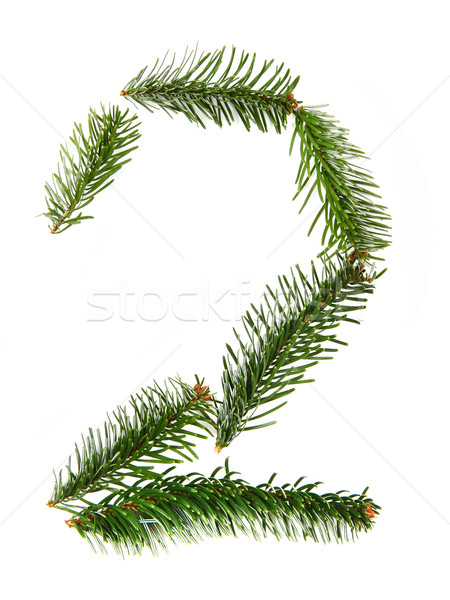 2 - number symbol from christmas alphabet Stock photo © jonnysek