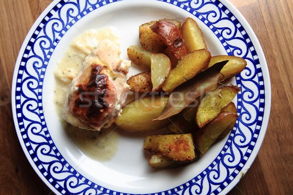 Patates tavuk et gurme gıda gıda Stok fotoğraf © jonnysek