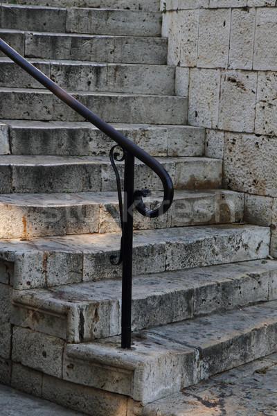 old stone stairways in Greece Stock photo © jonnysek