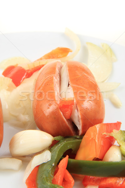 typical czech wurst named 'utopenec' Stock photo © jonnysek