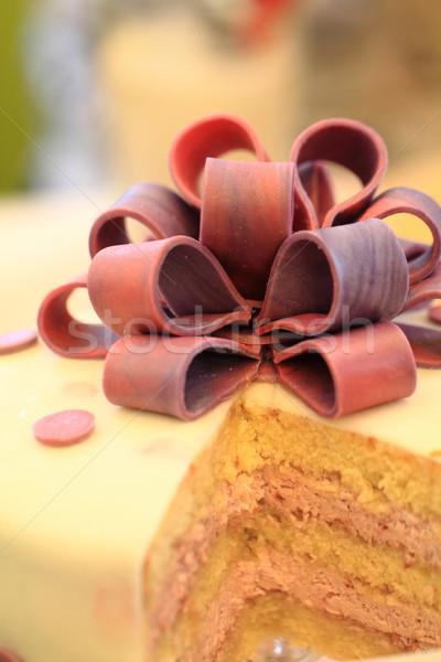 Stock fotó: Részlet · marcipán · torta · szép · gurmé · étel