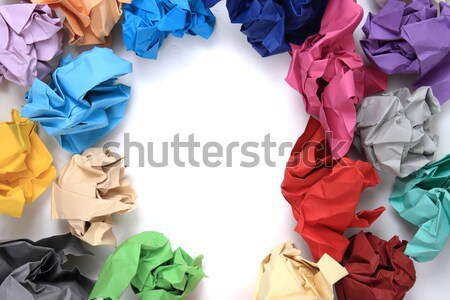 crumpled color papers Stock photo © jonnysek