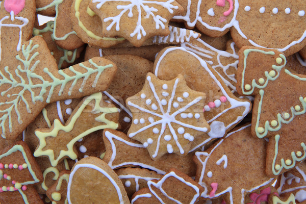 christmas ginger bread as holiday background Stock photo © jonnysek