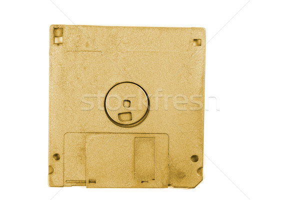 golden floppy disk Stock photo © jonnysek